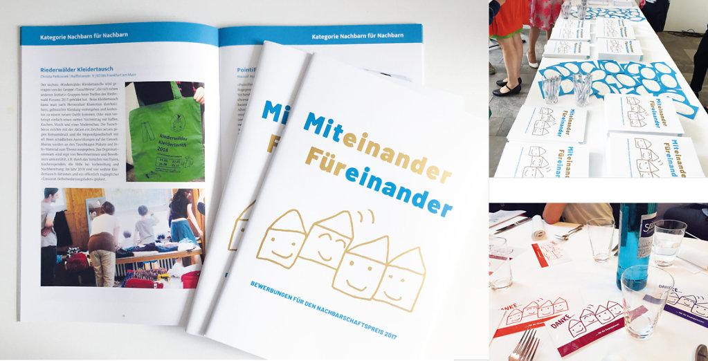 Nachbarschaftspreis, Entwicklung eines Key Visuals, Gestaltung Broschüre und Printwerbung