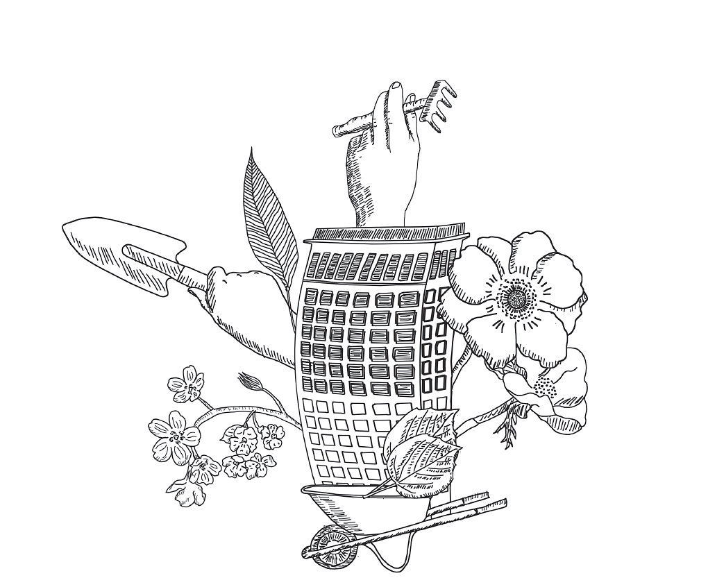 Logo-Illustration für »Frankfurter Stadtgewächse«