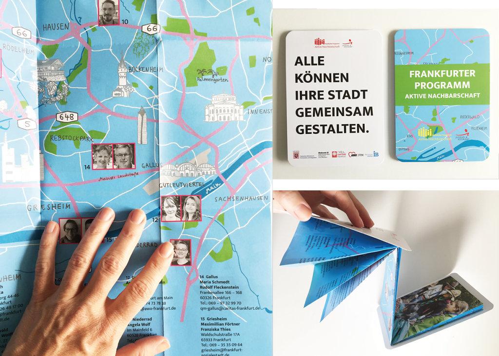 Stadtplan »Aktive Nachbarschaft« Illustration, Gestaltung, Produktion