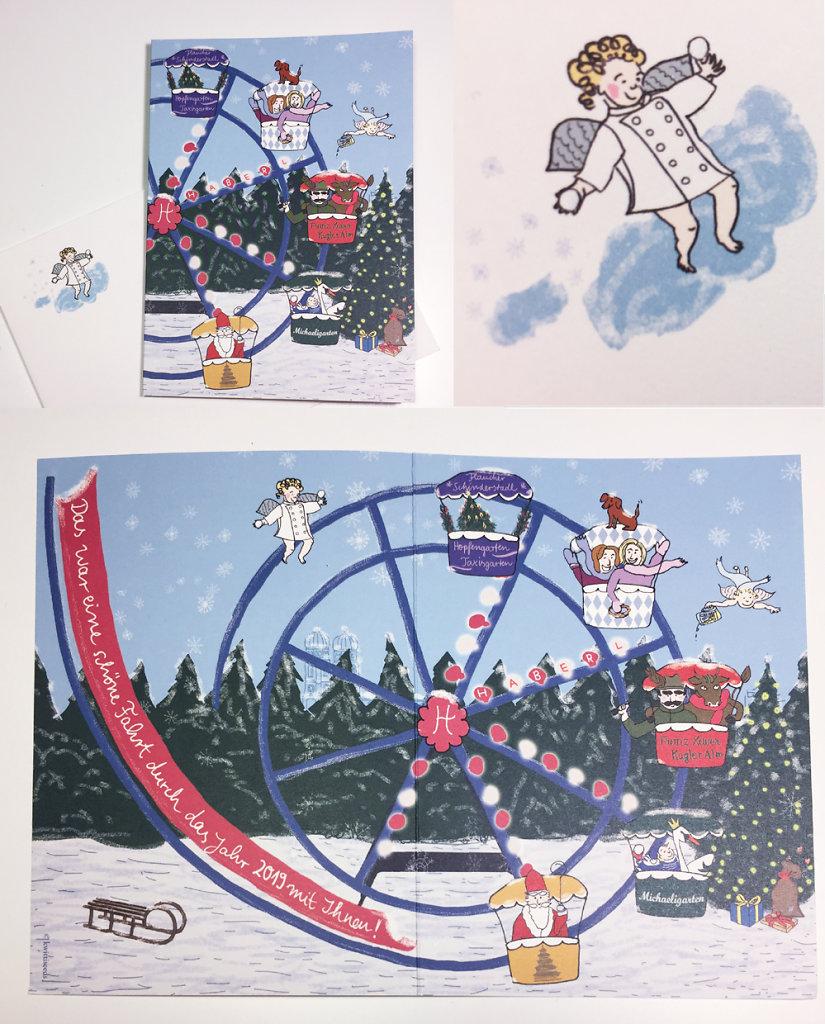Weihnachtskarte für die Haberl Gastronomie Schneider