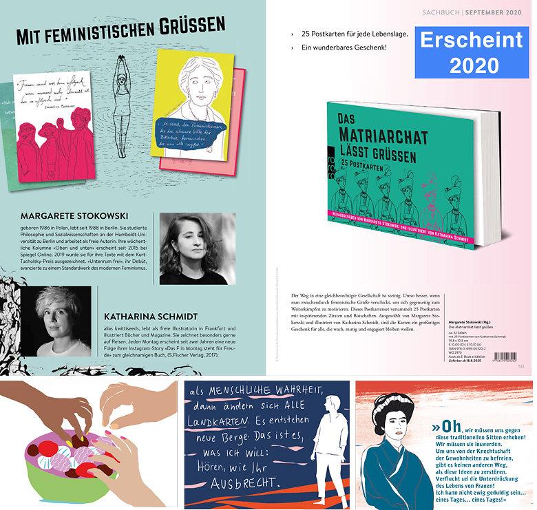 »Das Matriarchat lässt grüßen« Ein Postkartenbuch, herausgegeben von Margarete Stokowski und illustriert von mir